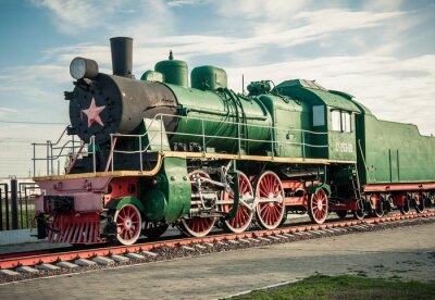 Sticker anciennes locomotives à vapeur du 20e siècle