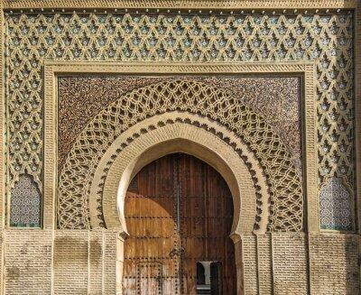 Sticker Anciennes portes à Meknès, Maroc
