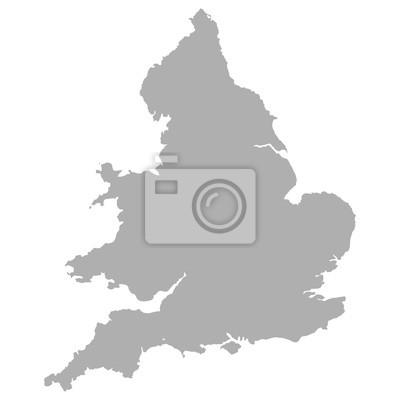 Angleterre, carte, Pays de Galles
