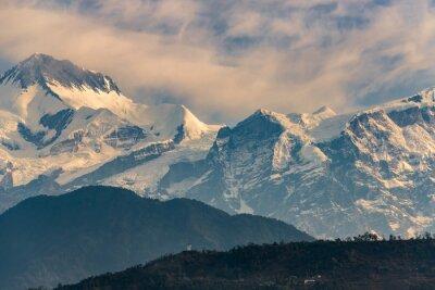 Sticker Annapurna, gamme, lever soleil