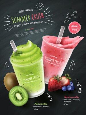 Sticker Annonces de smoothies de fruits