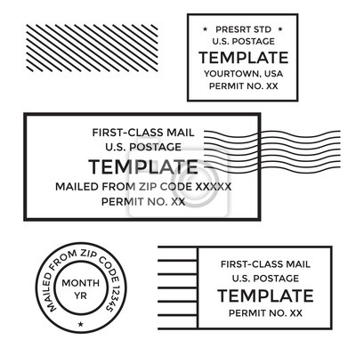 Sticker Annulation postale Première classe courrier Frais de port payé