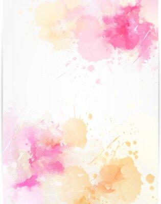 Sticker Aquarelle abstrait avec des éclaboussures de peinture.