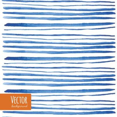Sticker Aquarelle bandeaux bleus dans le vecteur.