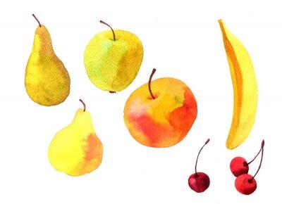 Sticker Aquarelle dessin fruits