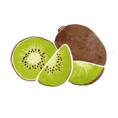 Sticker Aquarelle kiwi