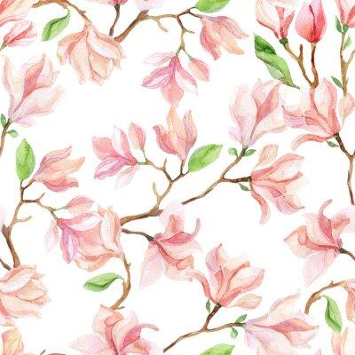 Sticker Aquarelle magnolia branches