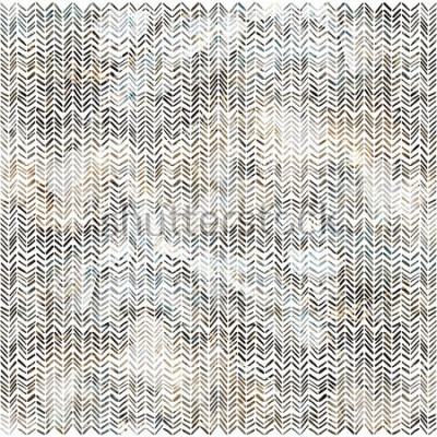 Sticker Aquarelle motif chevrons zigzag moderne