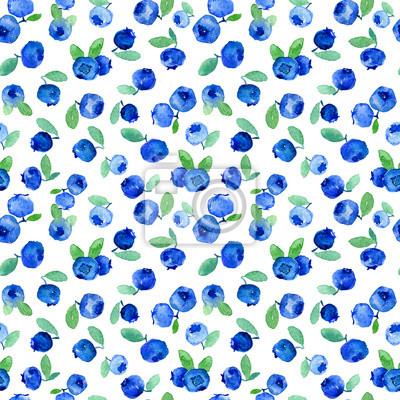 Aquarelle, seamless, modèle, bleu, bleuets. Peut être utilisé pour le papier d'emballage, le fond d'anniversaire, le jour de mère et tous les jours fériés.