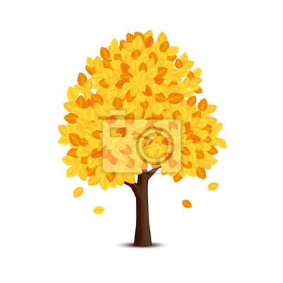 Arbre à feuilles jaunes