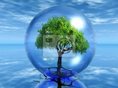 Sticker arbre en bulle