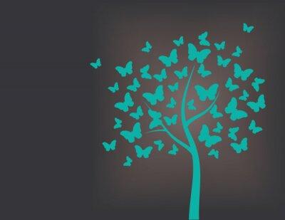 Sticker Arbre fait de papillons