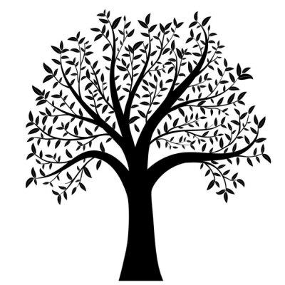 Sticker Arbre, feuilles, vecteur