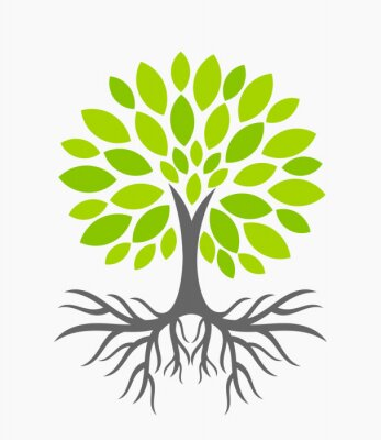 Sticker Arbre, racines