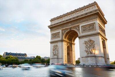 Sticker Arc de Triomphe à Paris après-midi