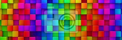 Sticker Arc-en-ciel de coloré blocs résumé fond