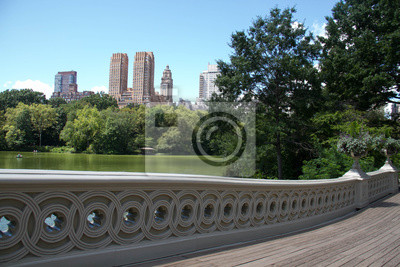Arc, pont, bâtiments, Manhattan, ville, nouveau, York