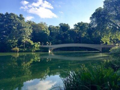 Arc, pont, réflexion, Lac, Central, Parc, Manhattan, nouveau, York