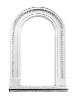 Sticker arche de pierre isolé sur fond blanc