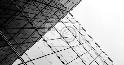 Sticker architecture de la géométrie à la fenêtre de verre - monochrome