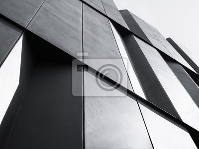 Sticker Architecture, détail façade, conception moderne, bâtiment, noir, blanc