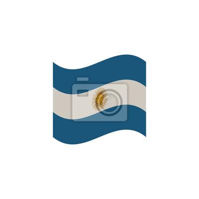Argentine, drapeau, vent, temps, blanc, fond