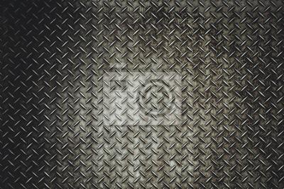 Sticker Arrière, grunge, acier, plancher, plaque, fond, vitage, lumière