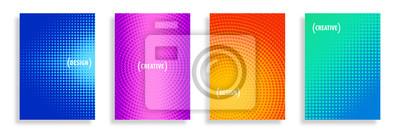 Sticker Arrière-plans de demi-tons abstraits de vecteur