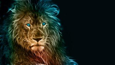 Sticker Art numérique imaginaire d'un lion