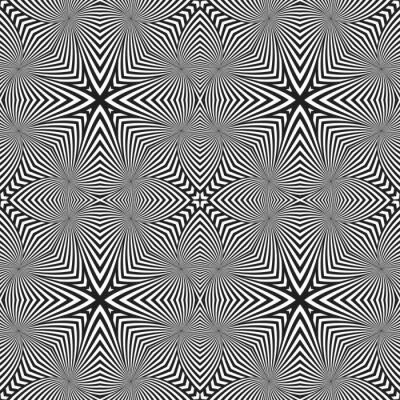 Sticker Art optique abstraite rayé motif déco sans soudure.