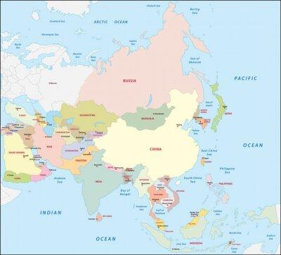 Sticker Asie carte