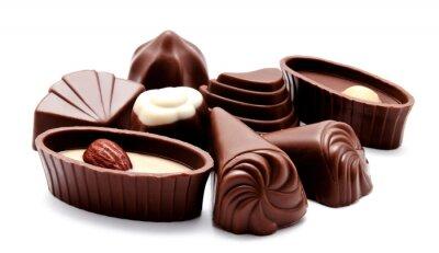 Sticker Assortiment de bonbons de chocolat isolé