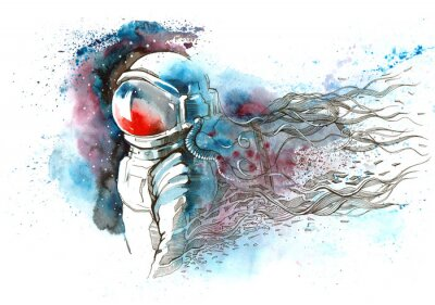 Sticker astronaute