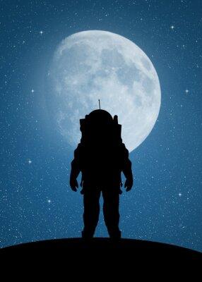 Sticker Astronaute à Mars