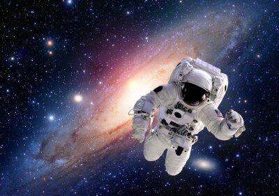 Sticker Astronaute cosmonaute costume espace gens de système solaire univers. Éléments de cette image fournie par la NASA.