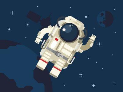 Sticker Astronaute dans l'espace extra-atmosphérique