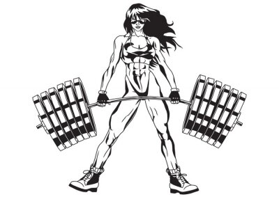 Sticker Athletic fille