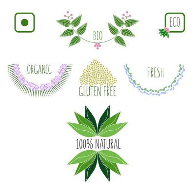 Aurvedic, oraganic, 100% naturel, frais, sans gluten icônes.