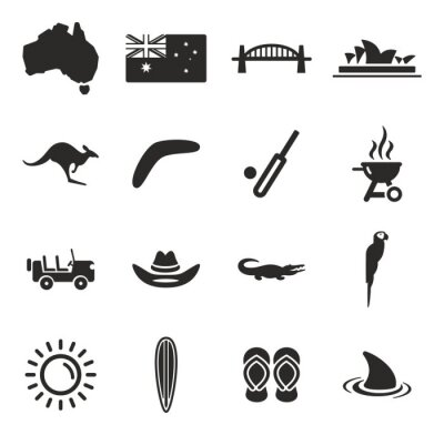 Sticker Australia Icons