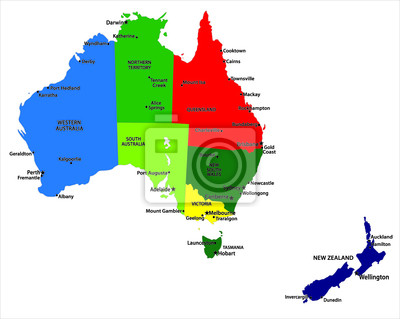 Australie carte