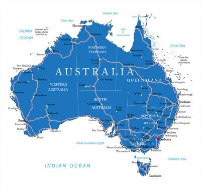 Sticker Australie feuille de route