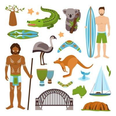 Sticker Australie Icons Set