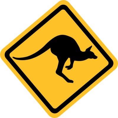 Sticker Australie Kangaroo Connexion