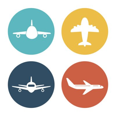 Sticker Avion et voyages