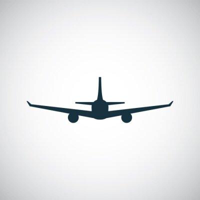 Sticker avion icône