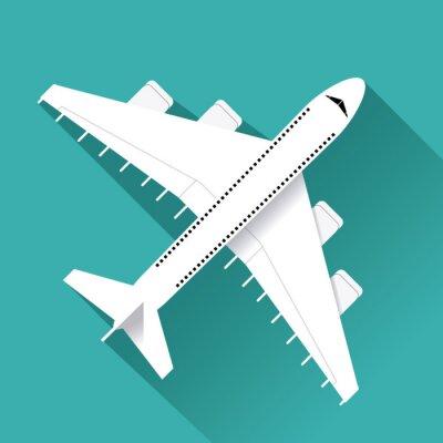 Sticker Avion, icône, conception