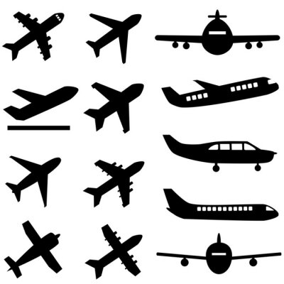 Sticker Avions en noir