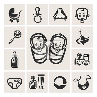 Baby ensemble d'icônes
