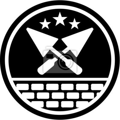 Badge de couche de briques
