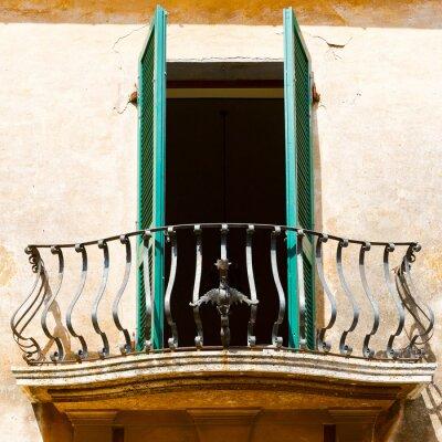 Sticker Balcon Italien